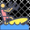 Surf Flight Surfer Surfing Icon