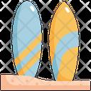 Surfboard Sea Beach Icon