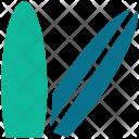 Beach Surfboard Surfing Icon