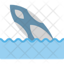 Surfboard On Beach Icon