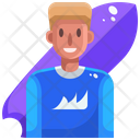 Surfboarding Icon