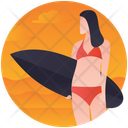 Surfboarding Icon
