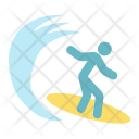 Surfer Sea Surfboard Icon