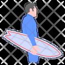 Skateboarding Surfing Surfer Icon
