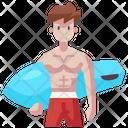 Surfer Surfing Surf Icon