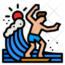 Surfer Sports Man Surfboard Icon