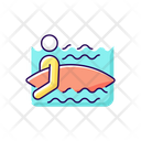 Water Enter Surfer Icon