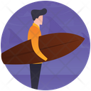 Surfing Surfer Swimming Icon