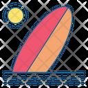 Surfing Surf Beach Icon