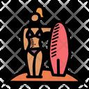 Bikini Holiday Water Sports Icon