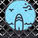 Surfing Surfboard Island Icon