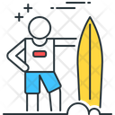 Surfing Surf Surfboard Icon