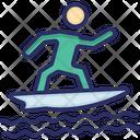 Surfing Surfboard Beach Sports Icon
