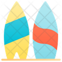 Surfing Surfboarding Beach Icon