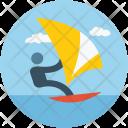 Surfing Ski Sea Icon
