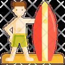 Surfer Surfing Wave Rider Icon