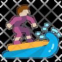 Surfing Surfer Sport Icon