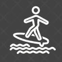 Surfing Sea Ocean Icon