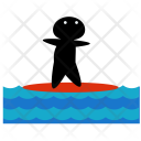 Surfing Water Sea Icon