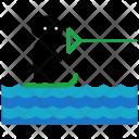 Surfing Kite Icon