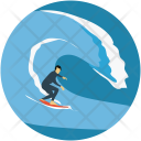Surfing Surf Boarding Icon