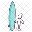 Surfing Board Icon