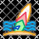 Surfing Board Icon