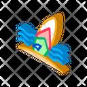 Surfing Board Seaside Icon