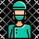 Surgeon Woman Doctor Icon