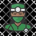 Surgeon Black Female Surgeon Black Icon