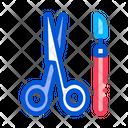 Surgical Scalpel Scissors Icon
