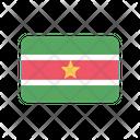 Suriname Flag Country Icon