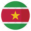 Suriname Flag Country Icon