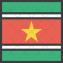 Suriname Country Flag Icon