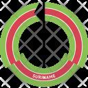 Suriname Country Flag Icon