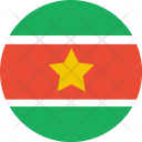 Suriname Flag World Icon
