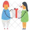 Giving Gift Surprise Wrapped Gift Icon