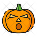 Surprise Pumpkin Emoji Icon