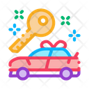 Gift Car Lottery Icon