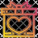 Heart Gift Box Celebration Icon