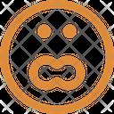 Surprised Stare Emoticon Emoticons Icon
