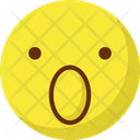Surprised Stare Emoticon Emoticons Icon