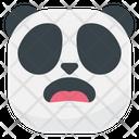 Surprised Panda Emoji Icon