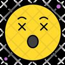 Surprised Emoticon Face Icon
