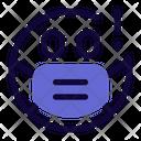 Surprised Emoji With Face Mask Emoji Icon