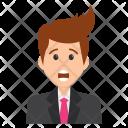 Surprised Businessman Icon