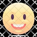 Surprised Grin Emoji Icon