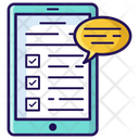 Customer Survey Feedback Evaluation Icon