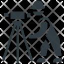 Surveyor Engineer Theodolite Icon