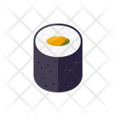 Sushi Roll Japanese Icon